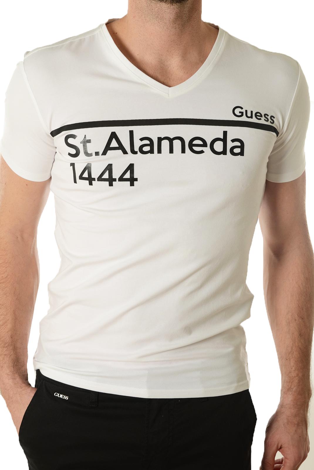 Tee-shirts  Guess jeans M72I27J1300 A009 BLANC