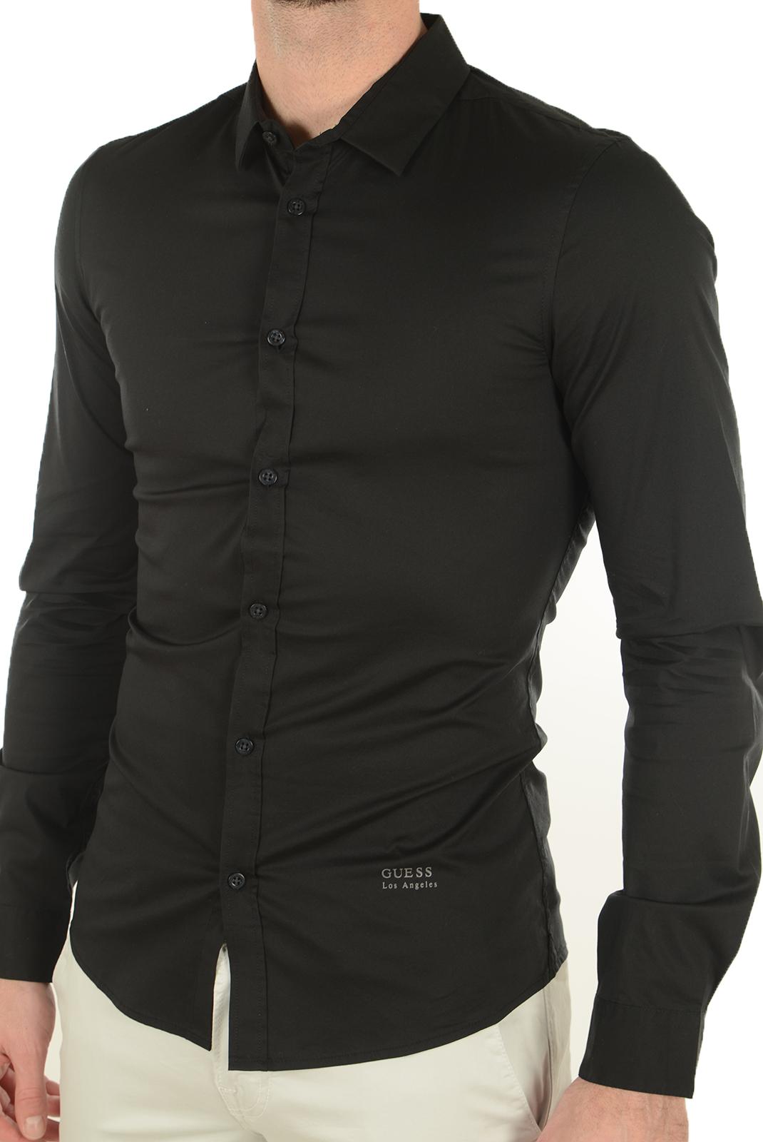 Chemises   Guess jeans M64H15 W7ZK0 A996 NOIR