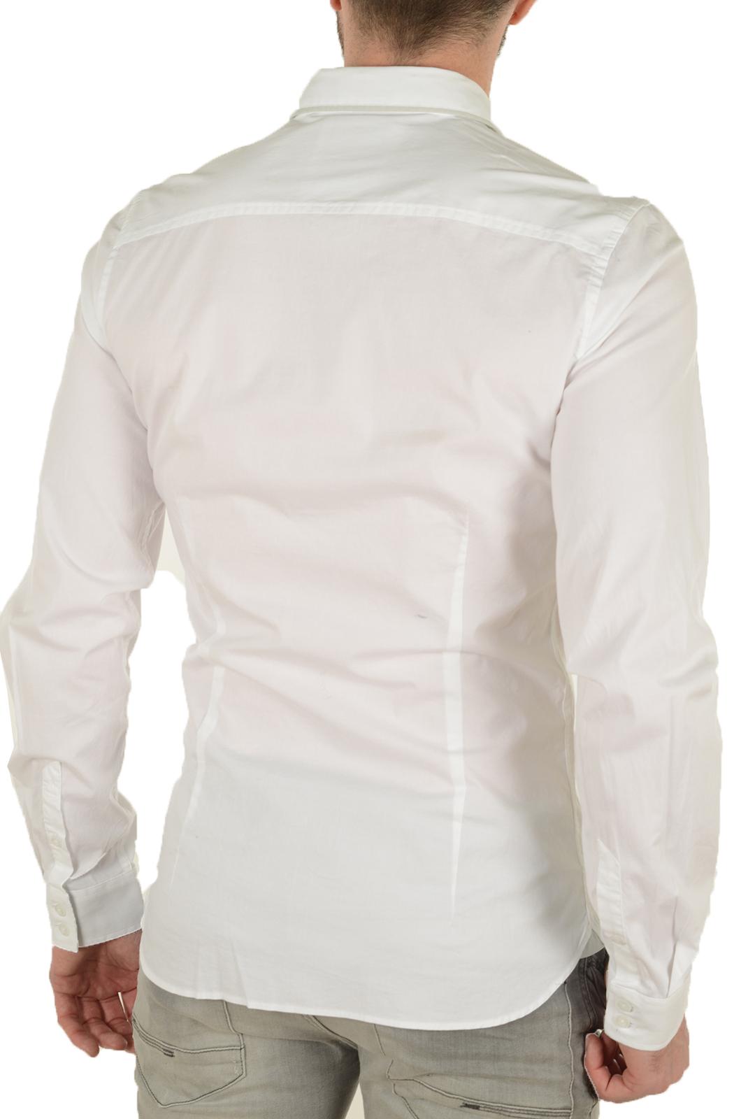 Chemises   Guess jeans M62H00W7D20 A009 BLANC