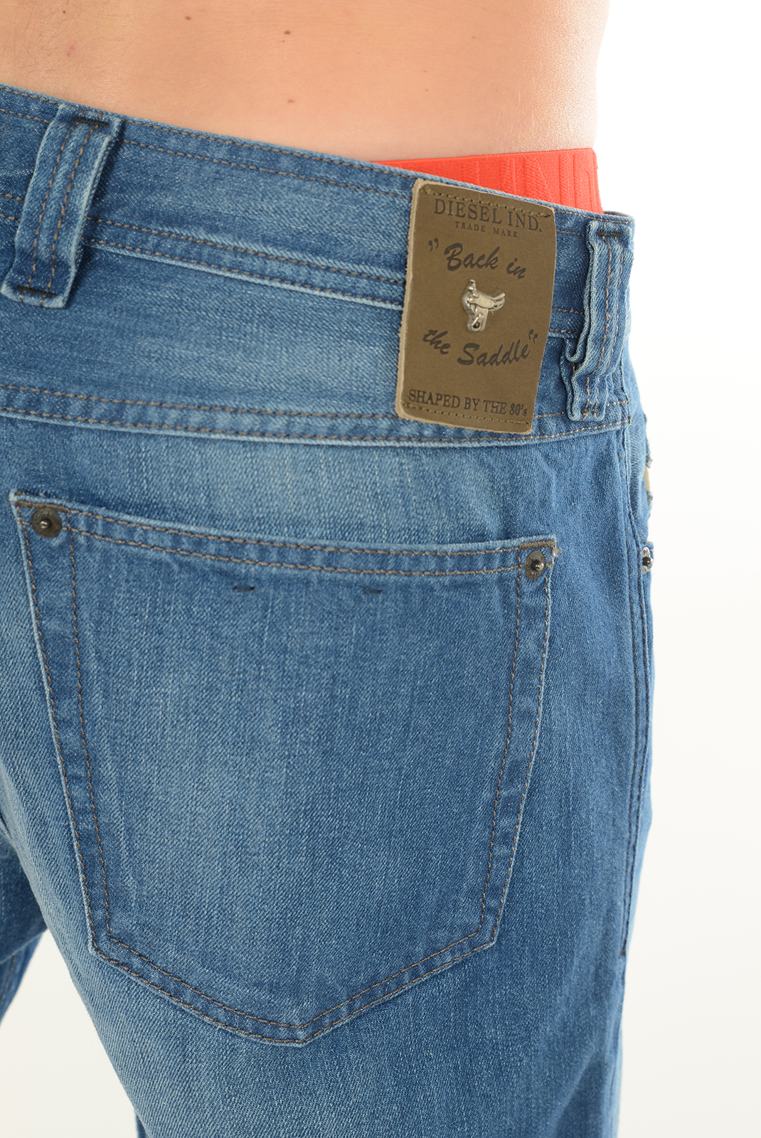 Jeans  Diesel BACK IN THE SADDLE 814Z BLEU