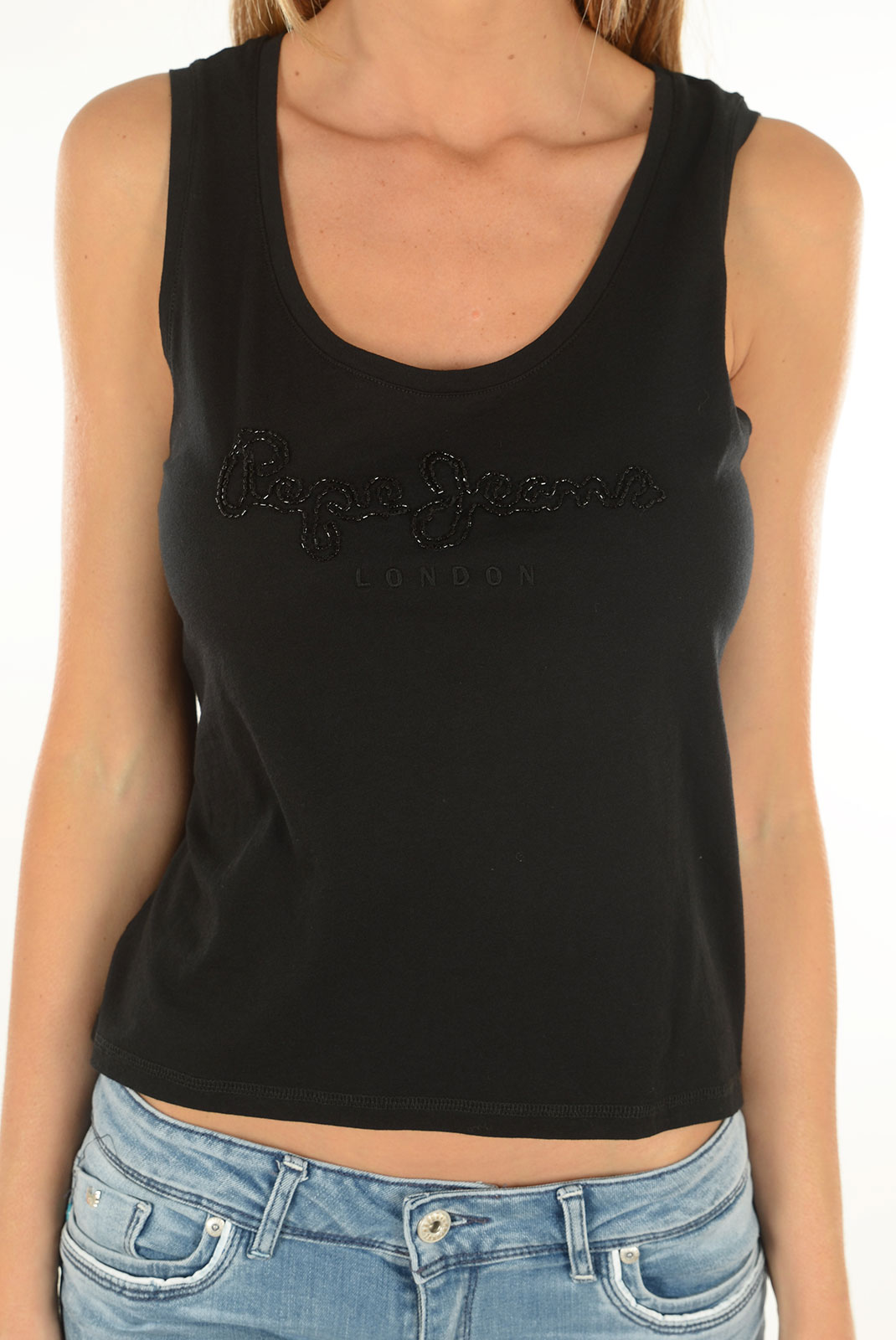 Tops & Tee shirts  Pepe jeans PL502591 MILLA 999 BLACK