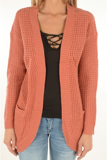 EMMA L/S LONG CARDIGAN NOOS - MARQUES ONLY