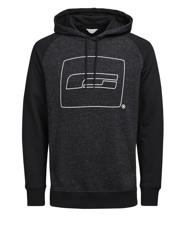 Sweatshirts  Jack & Jones LUCA SWEAT HOOD BLACK