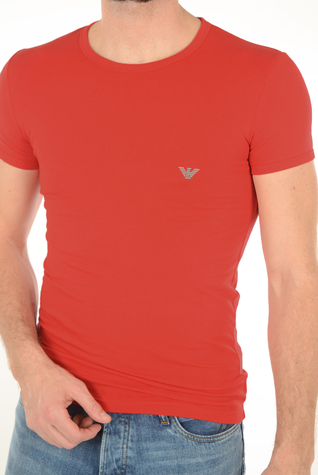 Tee-shirts manches courtes  Emporio armani 111035 6A725 074 ROUGE