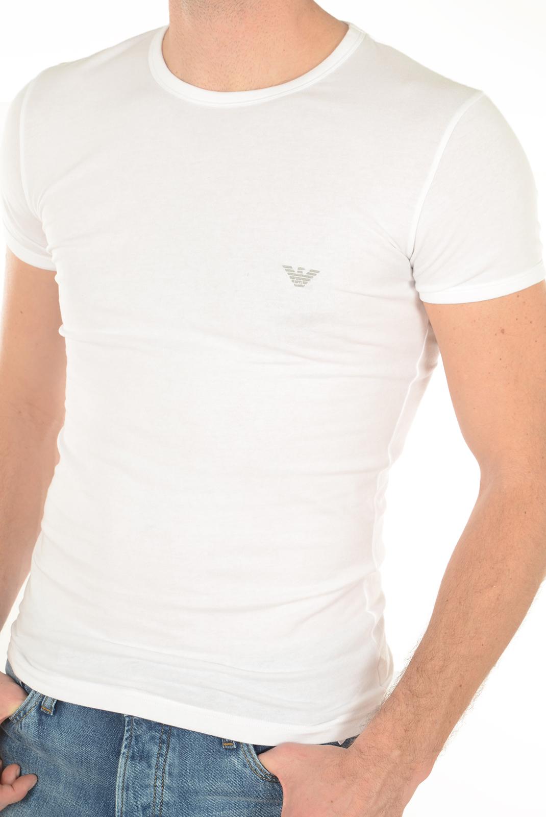 Tee-shirts manches courtes  Emporio armani 111035 6A725 010 BLANC
