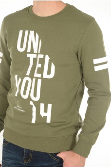 SLICE SWEAT CREW NECK - HOMME JACK AND JONES