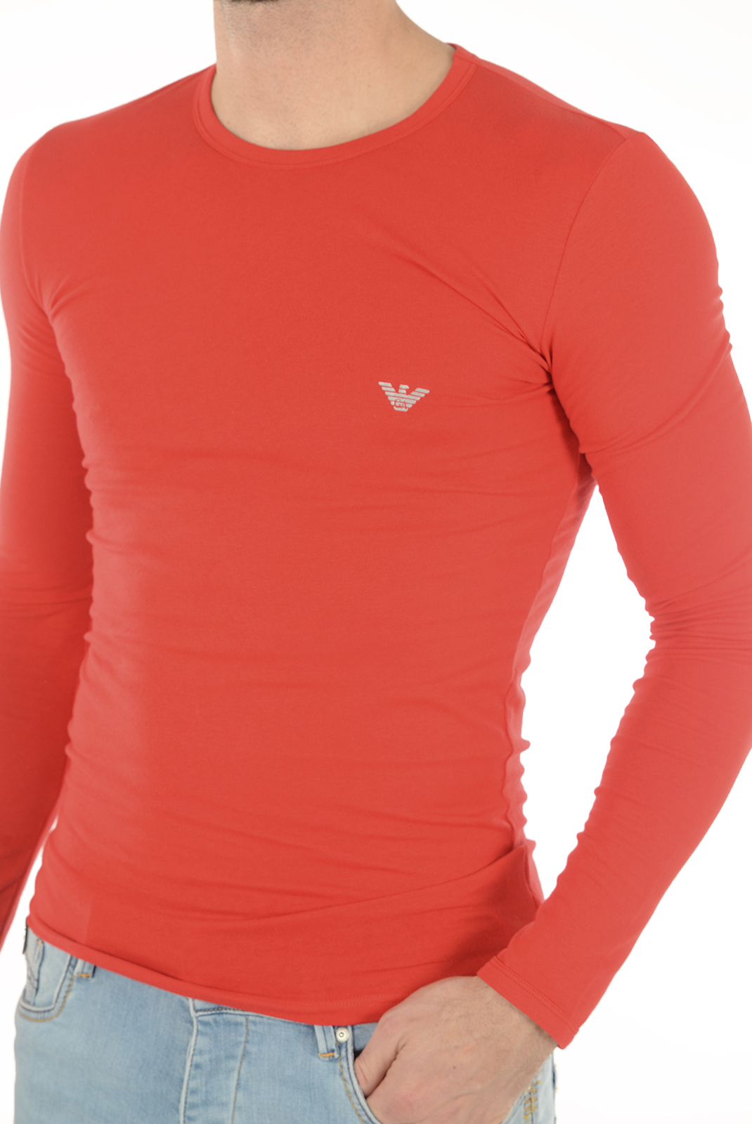 Tee-shirts manches longues  Emporio armani 111023 6A725 074 ROUGE
