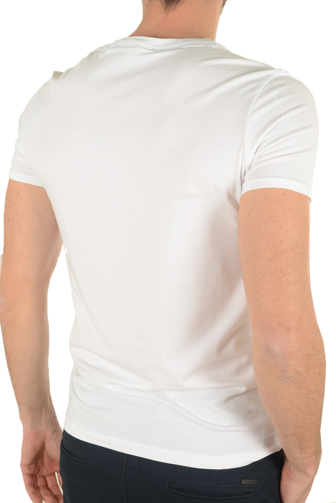 Tee-shirts manches courtes  Guess jeans U72M01JR003 A009 BLANC
