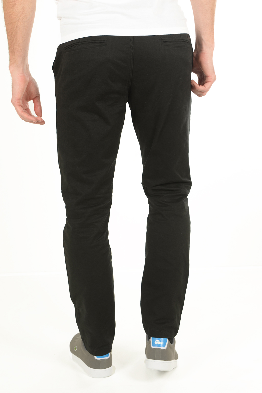 Pantalons chino/citadin  Jack & Jones MARCO ENZO BLACK