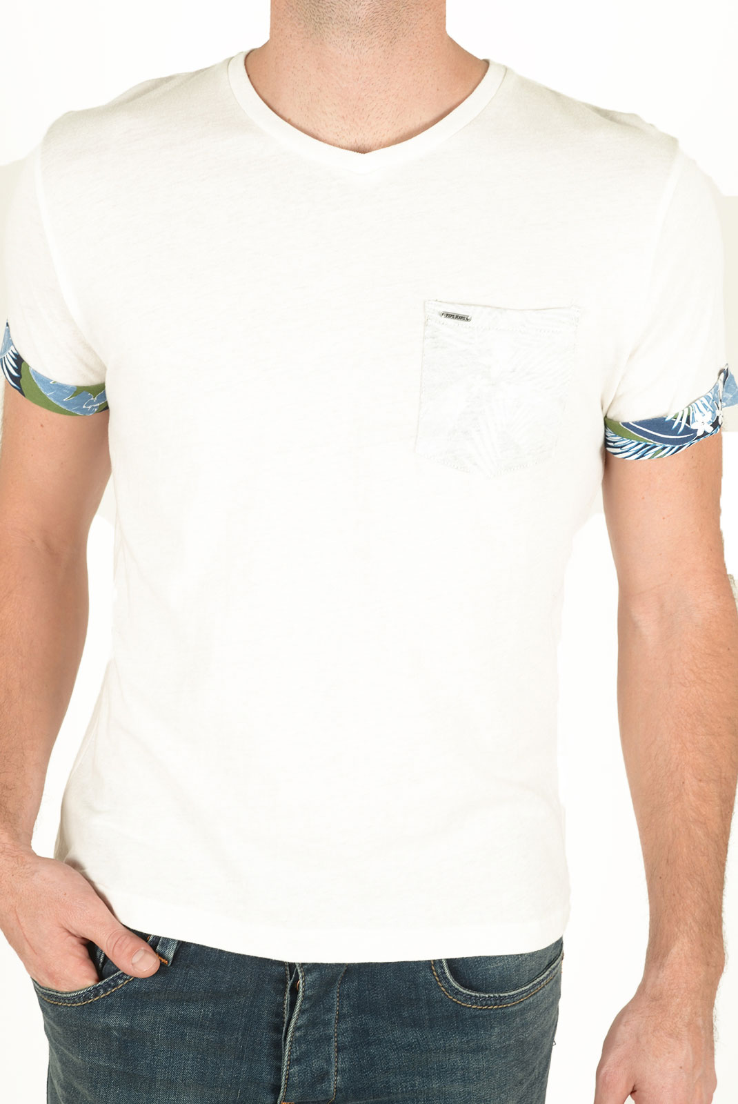 Tee-shirts manches courtes  Pepe jeans PM503577 MURVIN 803 OFF WHITE