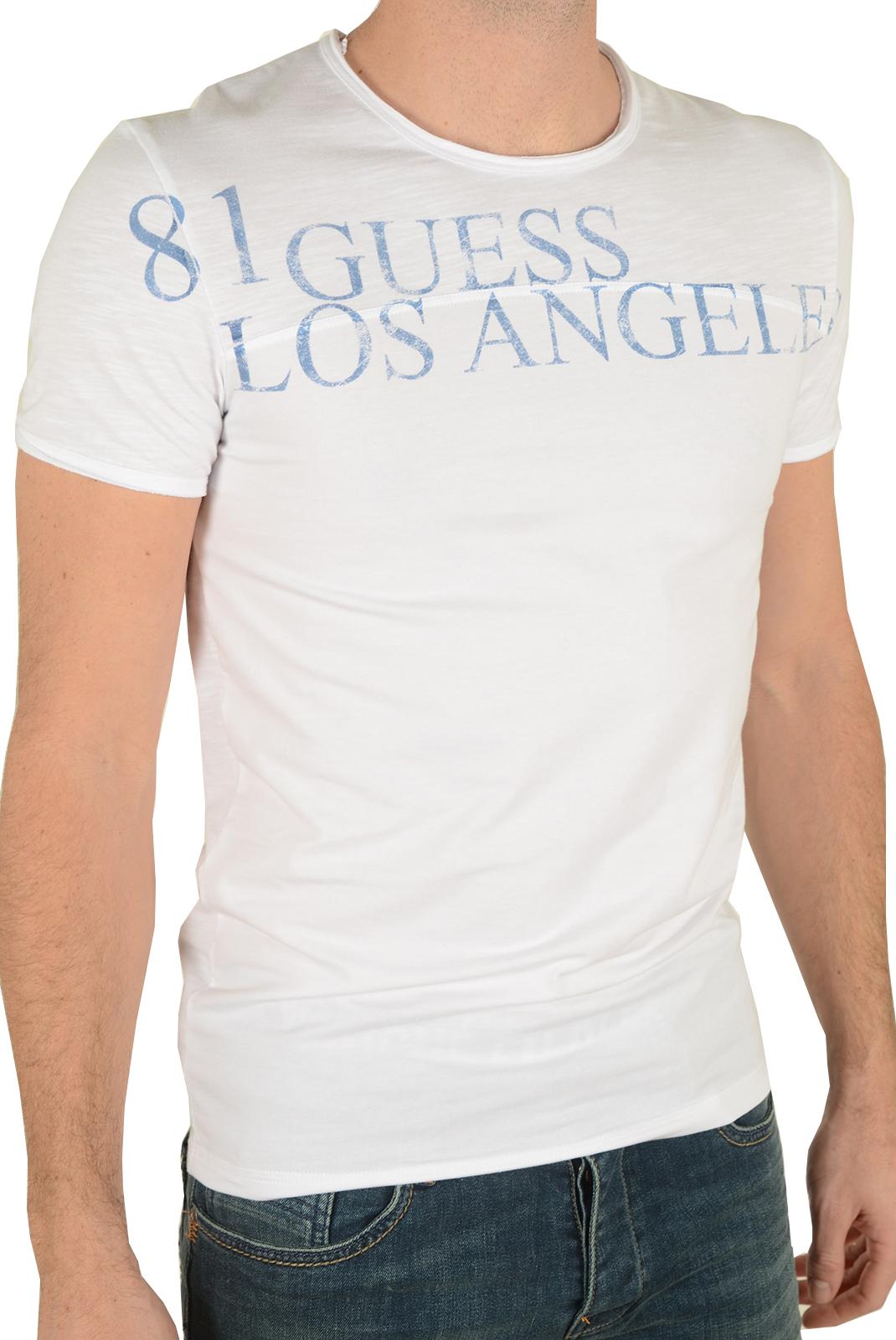 T-S manches courtes  Guess jeans U72M10JR00C A009 BLANC