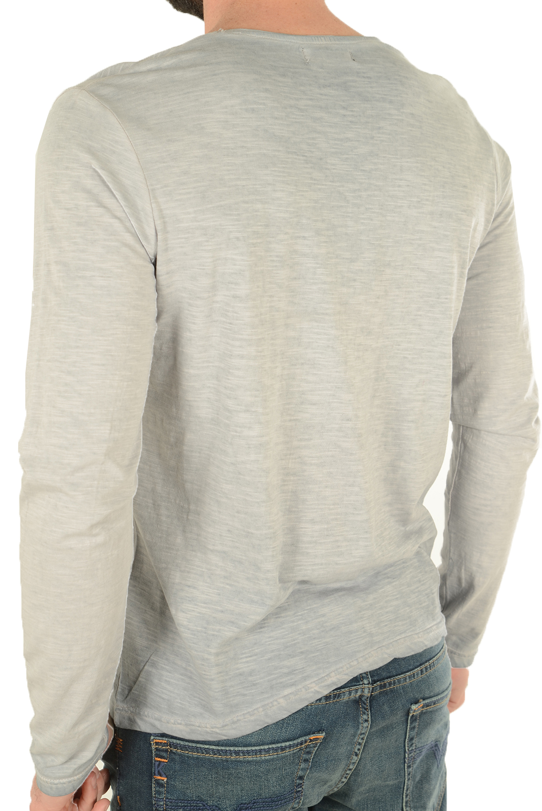 Tee-shirts manches longues  Biaggio jeans LEPALIL LT GREY