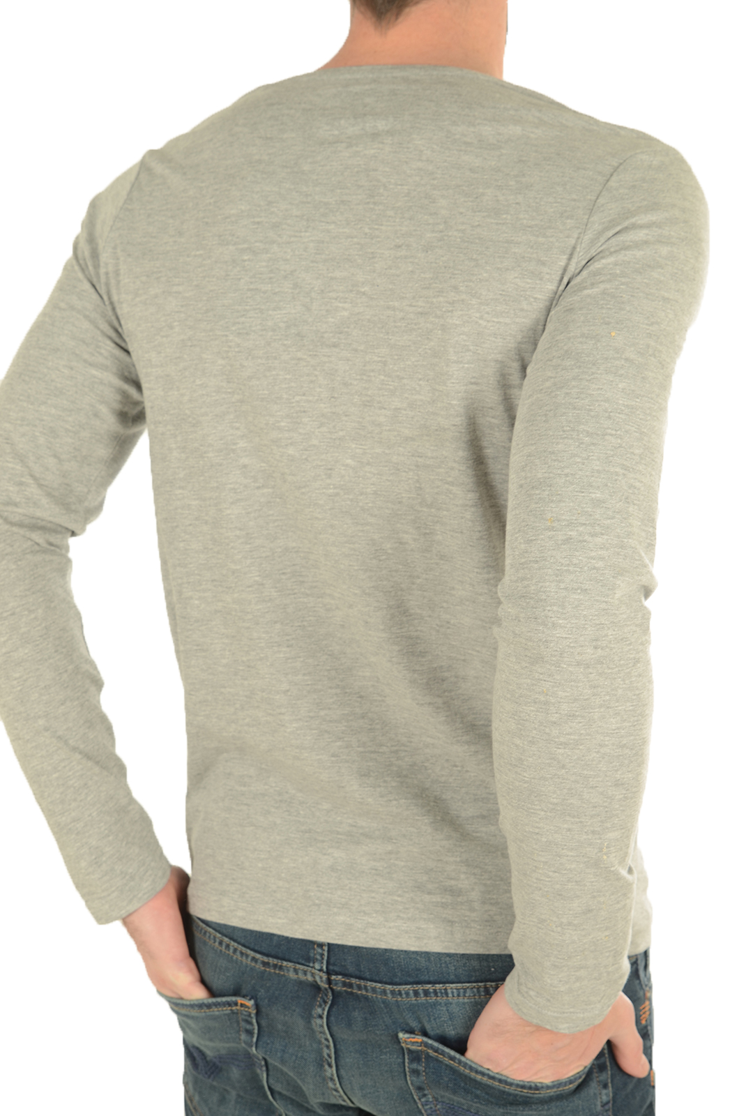 T-S manches longues  Biaggio jeans LAKANIL GREY MELANGE