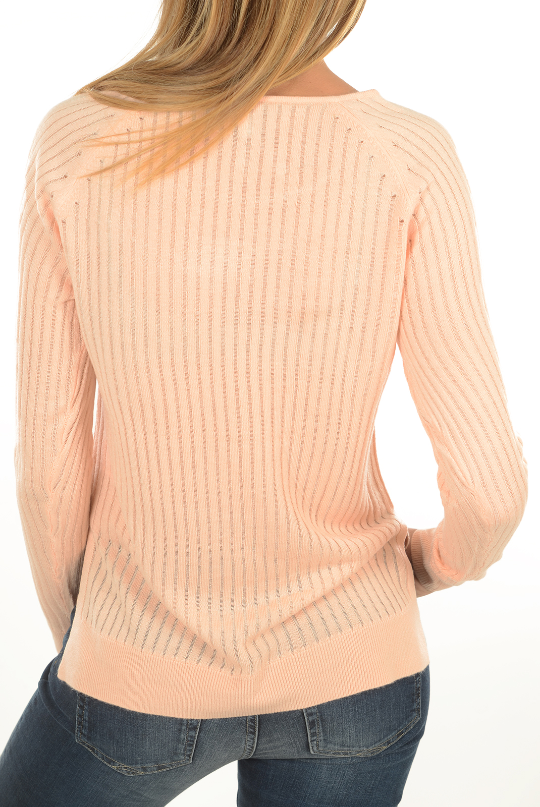 Pulls & gilets  Only ROSE RIB L/S PEACHY