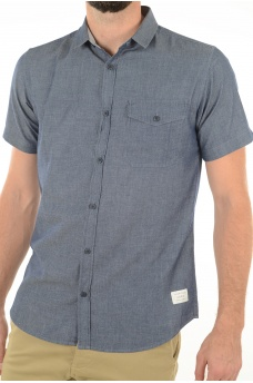 CHAMBRAY SHIRT S/S - HOMME JACK AND JONES