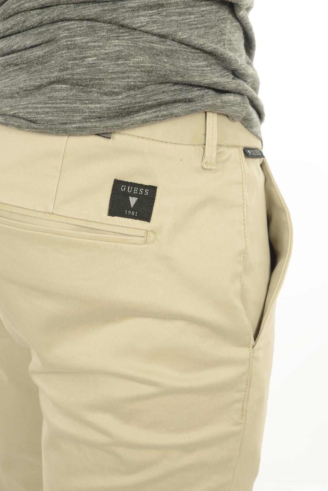 Pantalons chino/citadin  Guess jeans M44B10W5ZJ0 C122 BEIGE