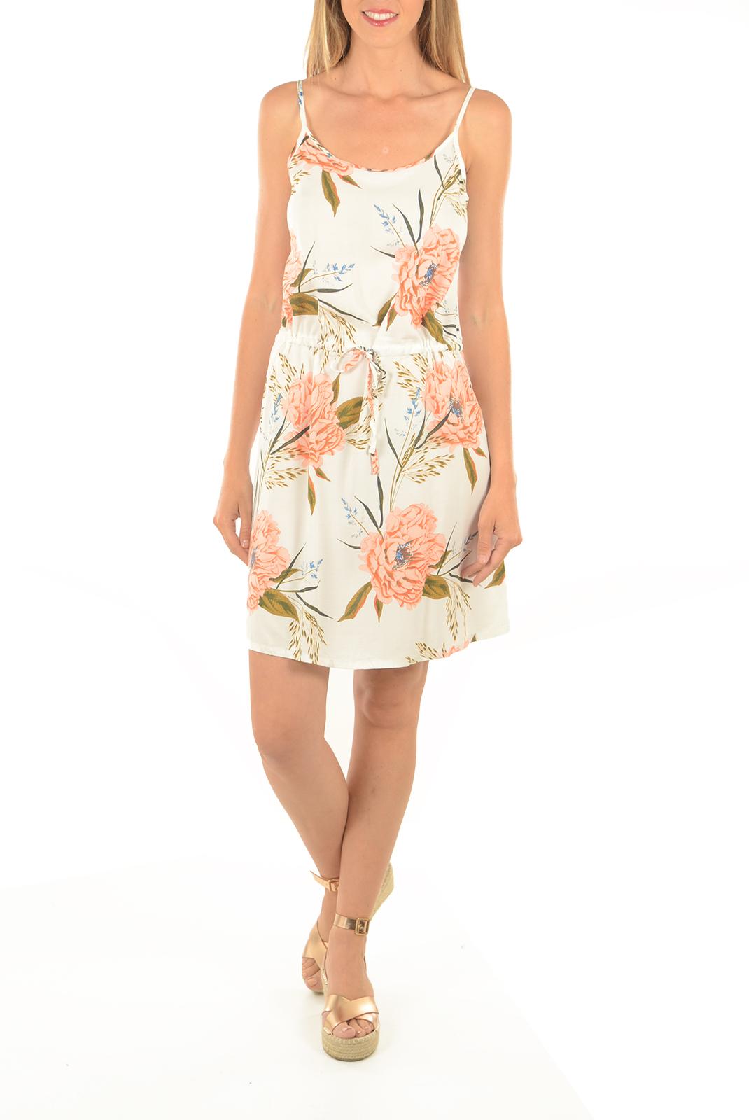 Robes  Vero moda NOW SINGLET SHORT DRESS BUTTERCREAM/CAROLINE P
