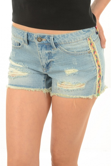 ONLY: CARRIE LOW COL TAPE DNM SHORTS