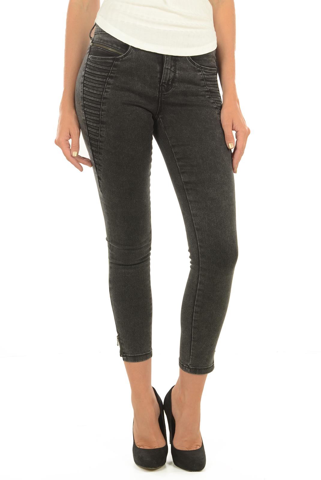 Jeans slim  Only ROYAL RG SK ZIP AN JNS PNT PIM601 NOOS BLACK DENIM