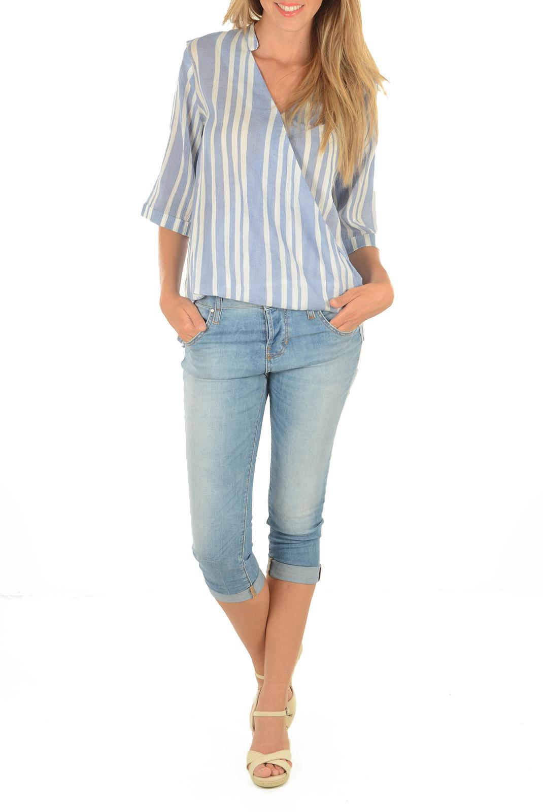 Bermudas / Corsaires  Guess jeans W51A45-D1PU0-FLAG BLEU