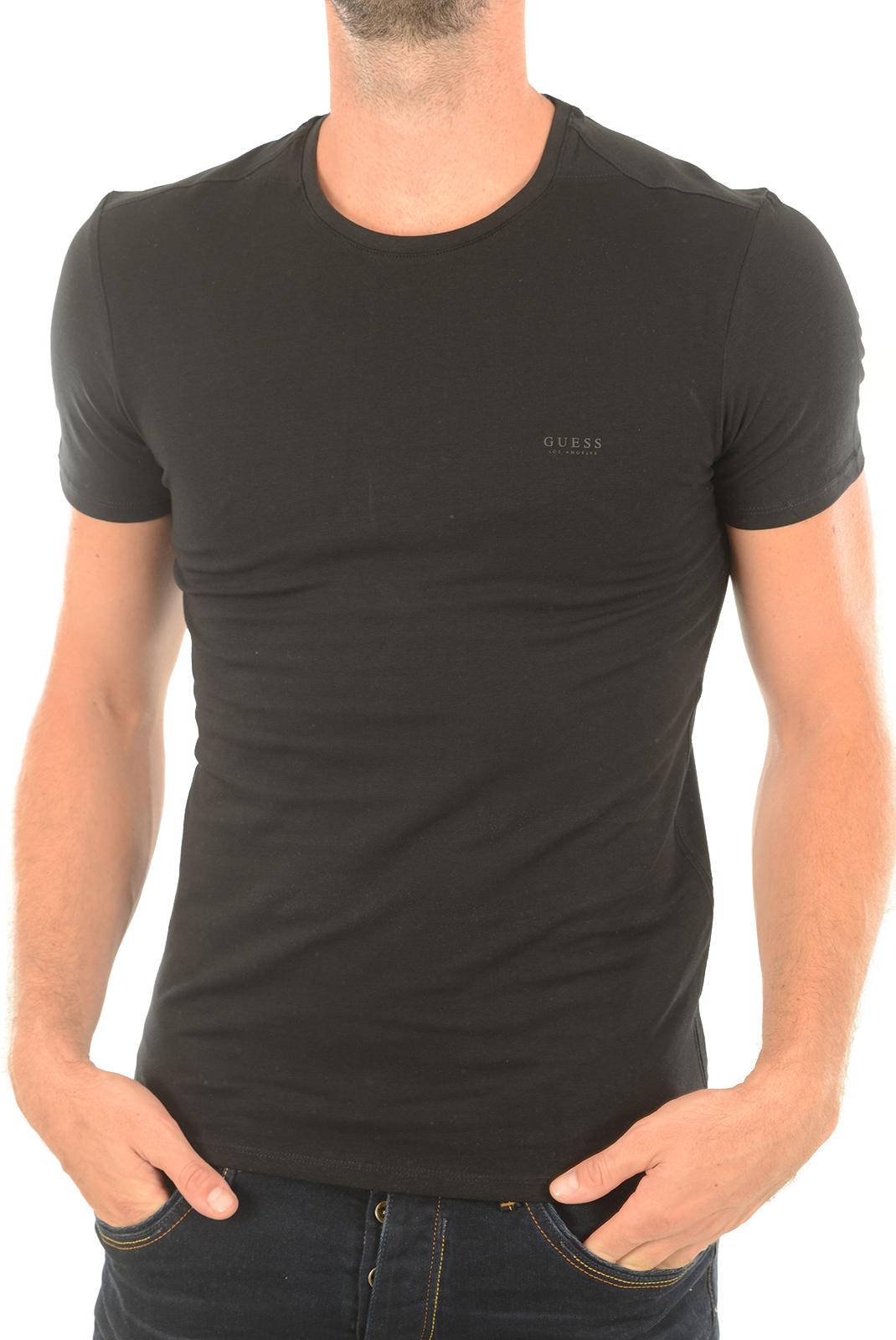 Tee-shirts  Guess jeans M73I56 J1300 A996 NOIR