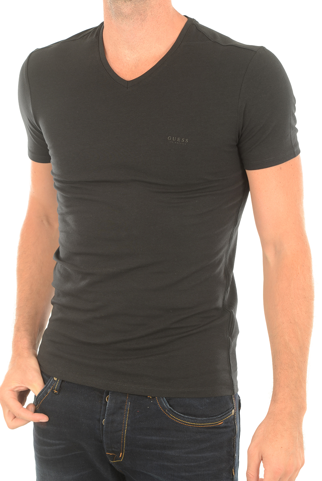 Tee-shirts manches courtes  Guess jeans M73I55 J1300 A996 NOIR