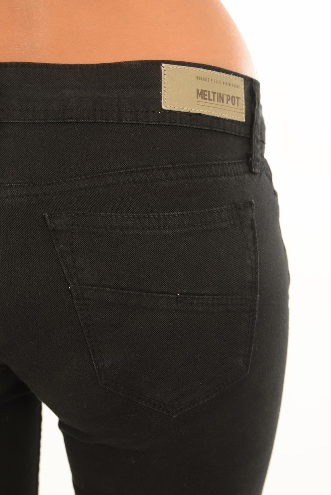 Jeans   Meltin'pot MELIA G2311 GT000 NE00 NOIR