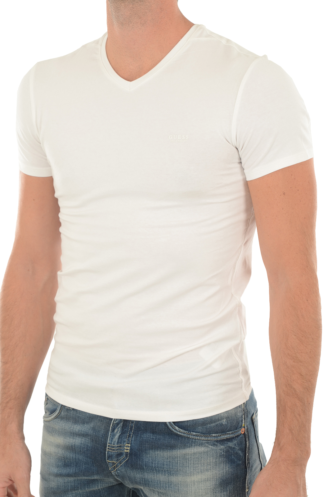Tee-shirts manches courtes  Guess jeans M73I55 J1300 A000 BLANC