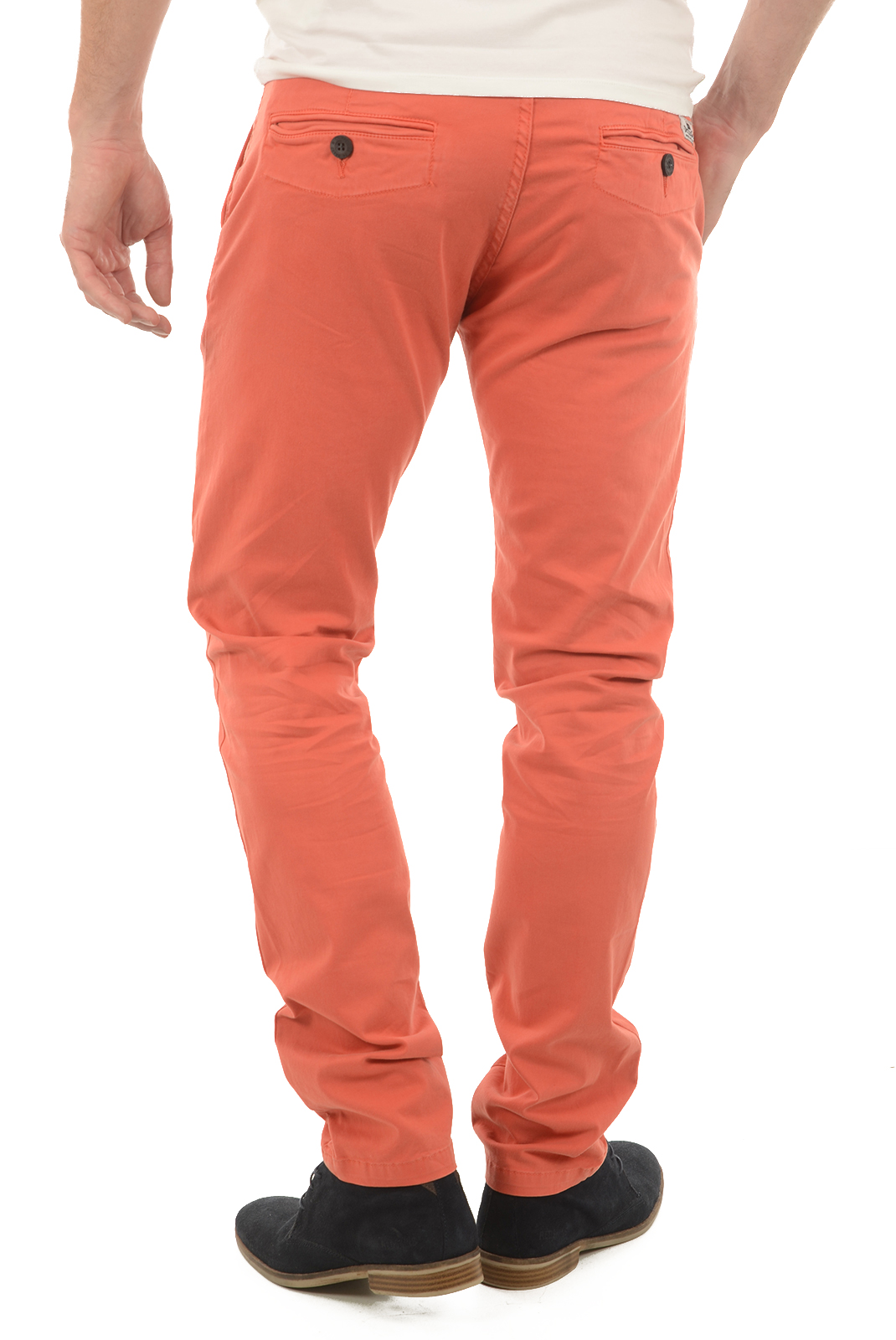 Pantalons chino/citadin  Deeluxe LAWSON TOMATO
