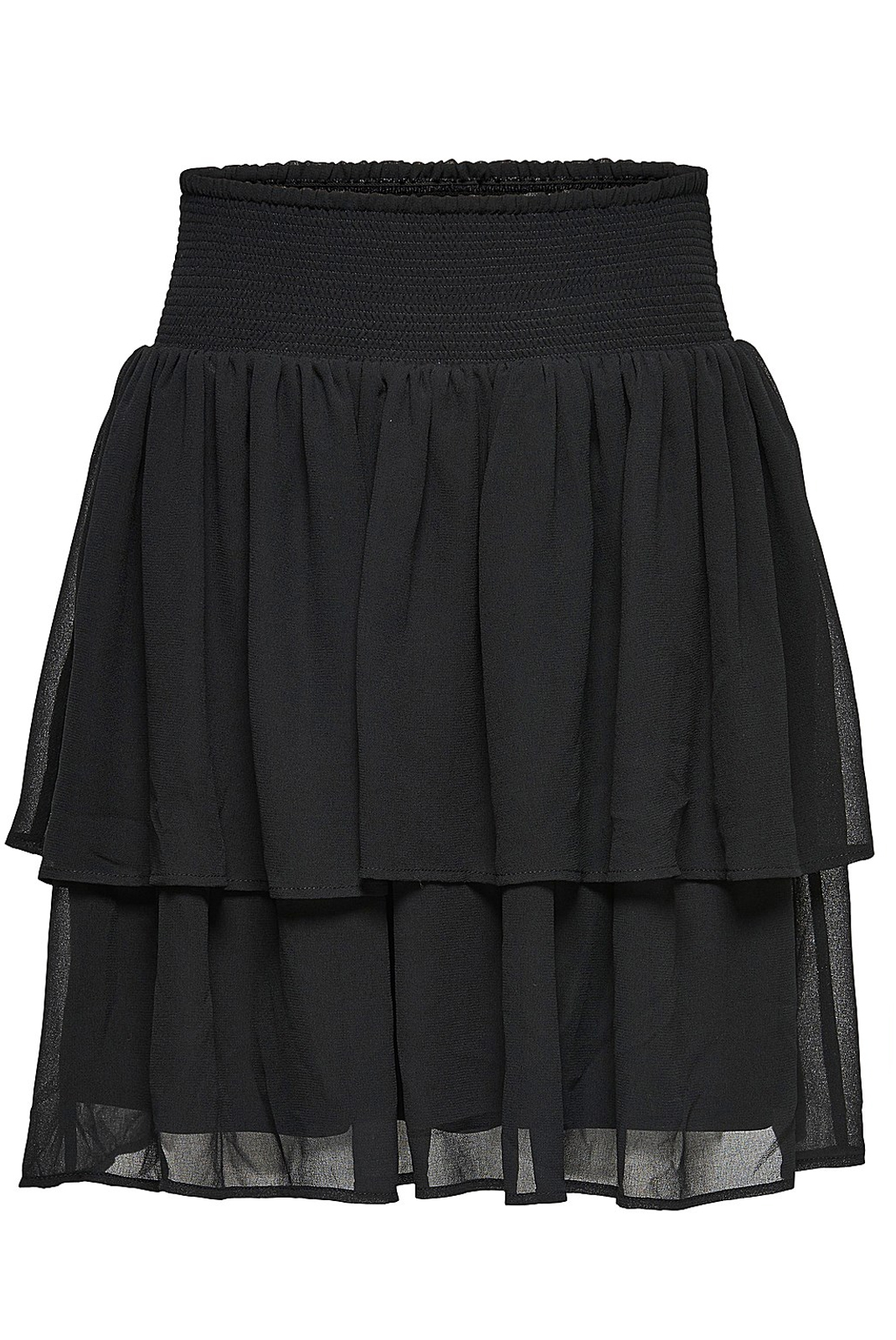 Jupes  Only MIA LAYERED SHORT SKIRT WVN BLACK
