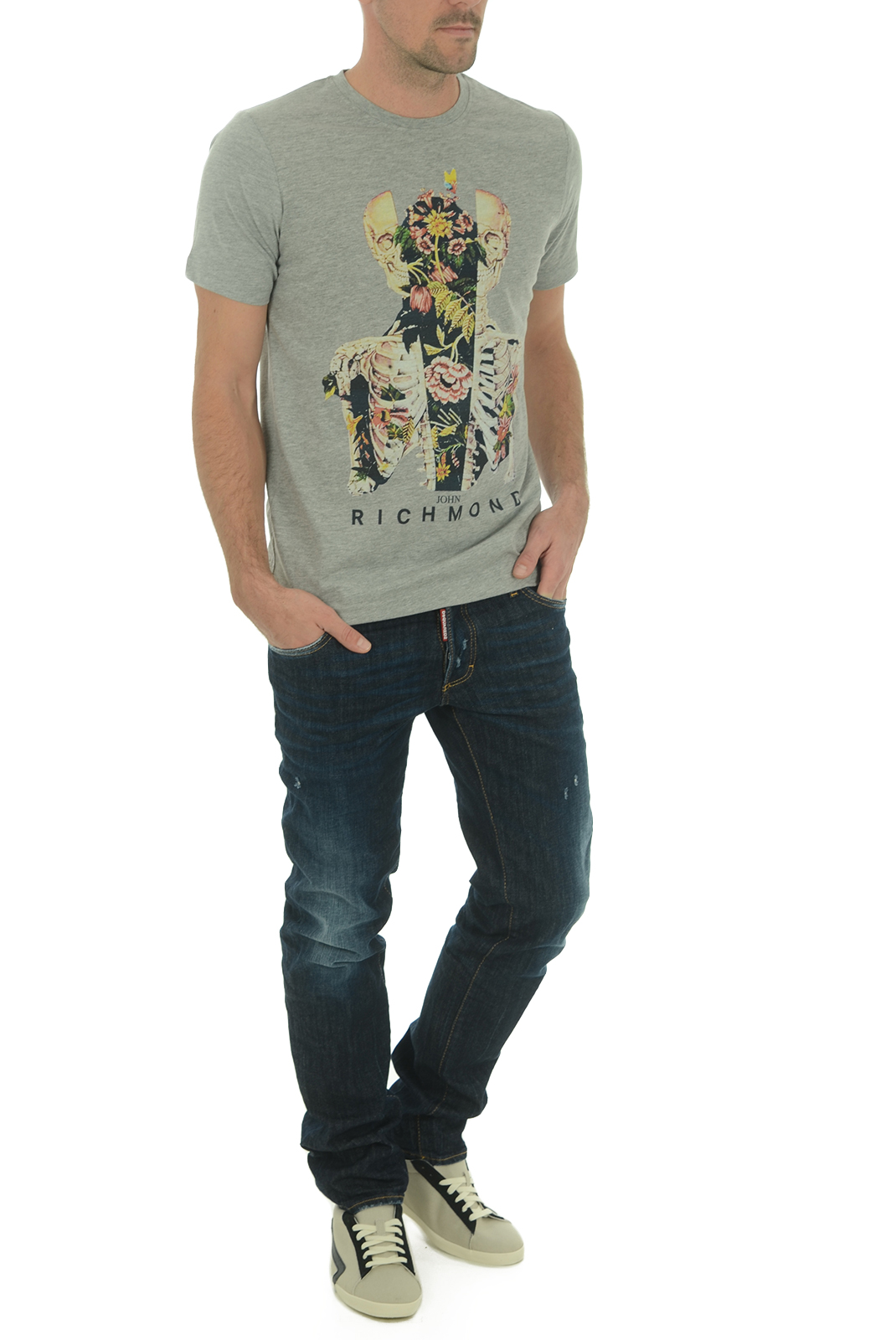 Tee-shirts  John richmond CURVELADIA W0066 GRIGIO MEL