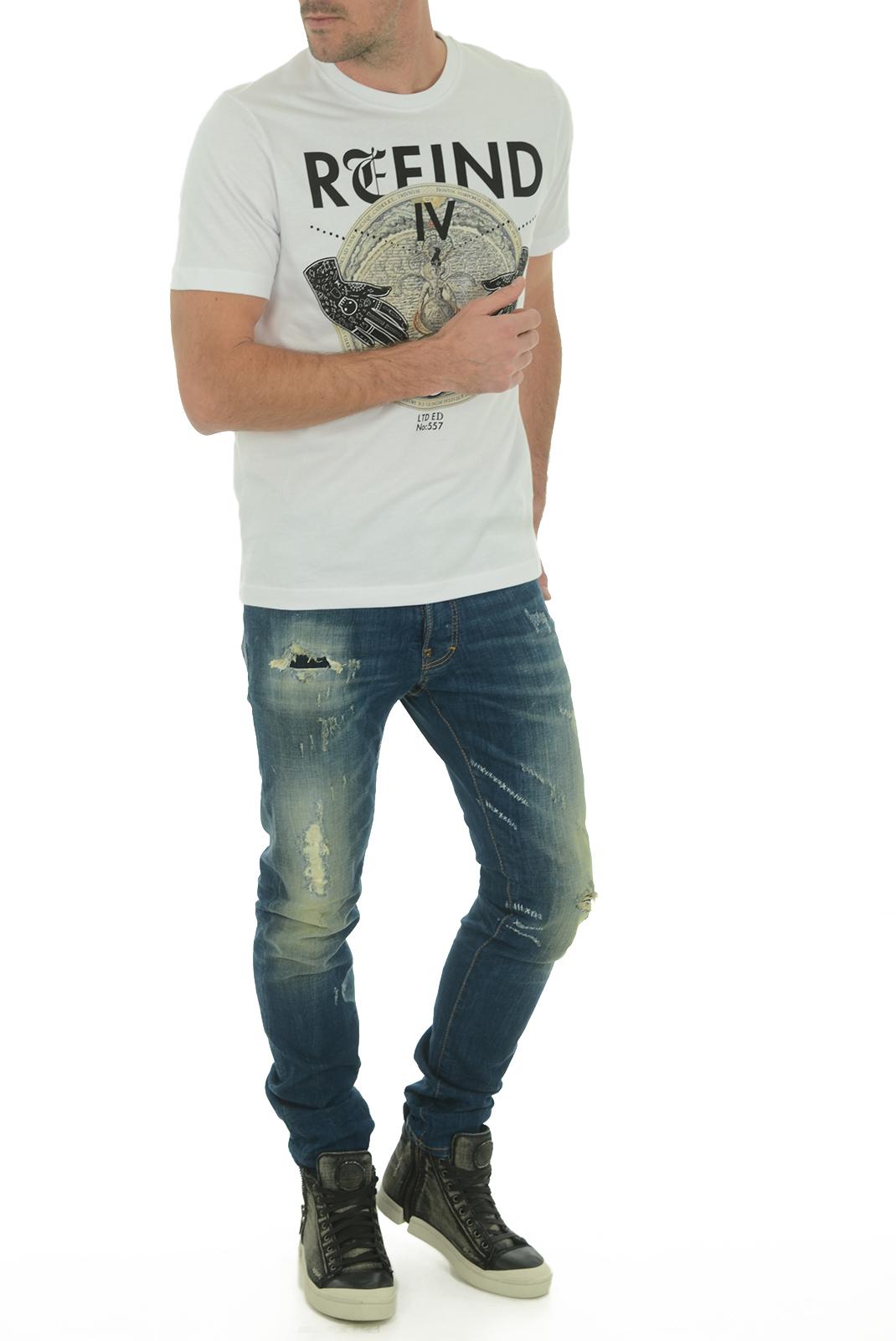 Tee-shirts  John richmond MATTIUSO W0019 BLANC