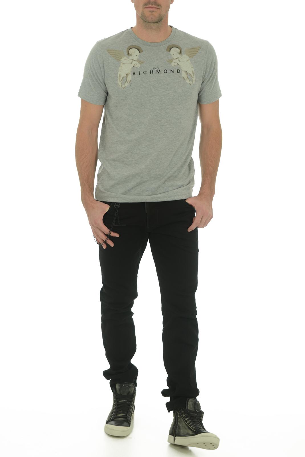 Tee-shirts  John richmond SATUBINA W0066 GRIGIO MEL