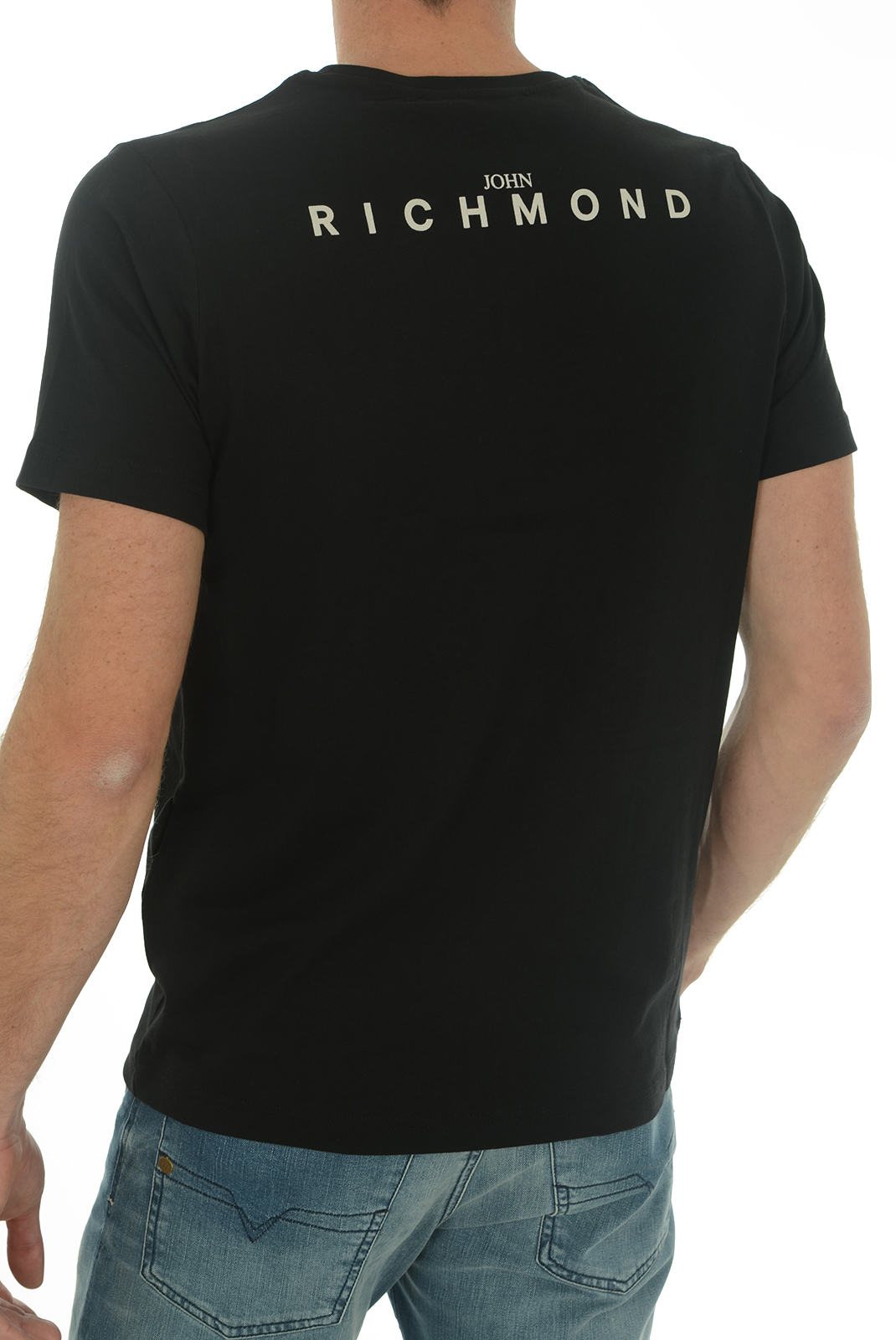 Tee-shirts  John richmond SATUBINA W0083 NOIR