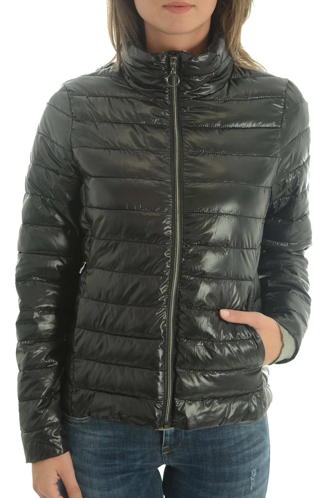 Vestes & blousons  Vero moda DOUBLE 3/4 JACKET MEDIUM GREY/BLACK