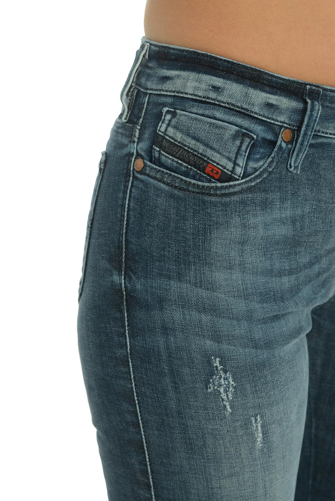 Jeans slim  Diesel SKINZEE-LOW 0677R BLEU