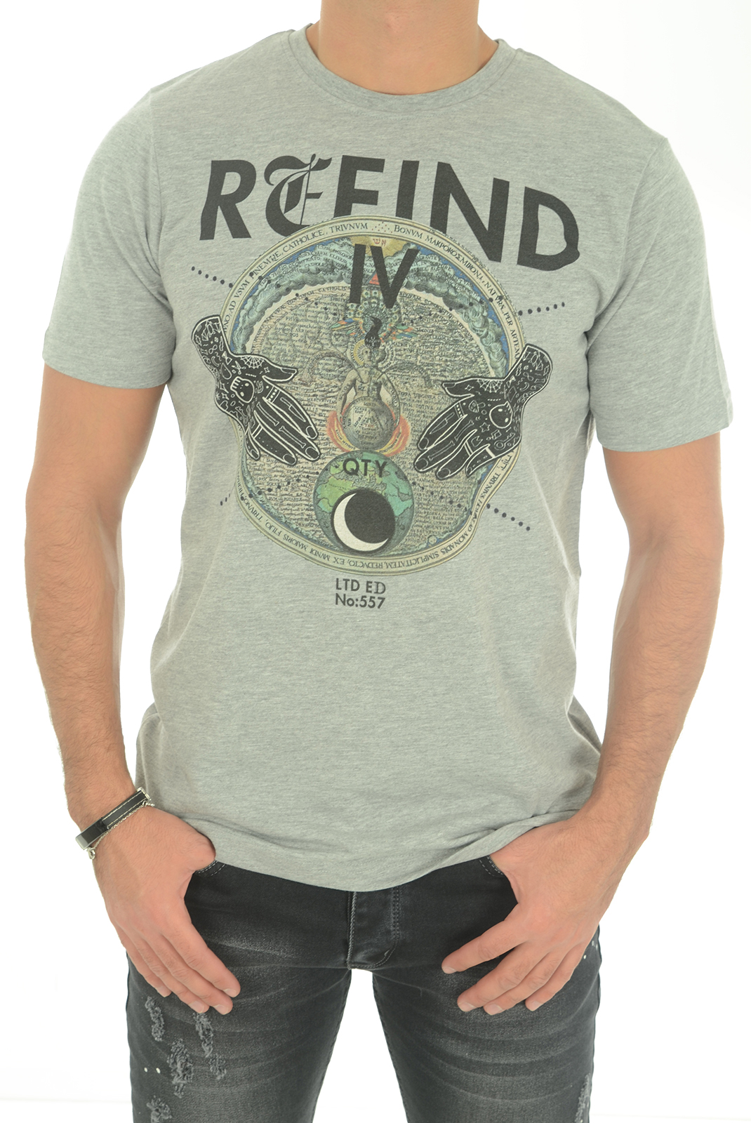 Tee-shirts  John richmond MATTIUSO W0066 GRIGIO MEL
