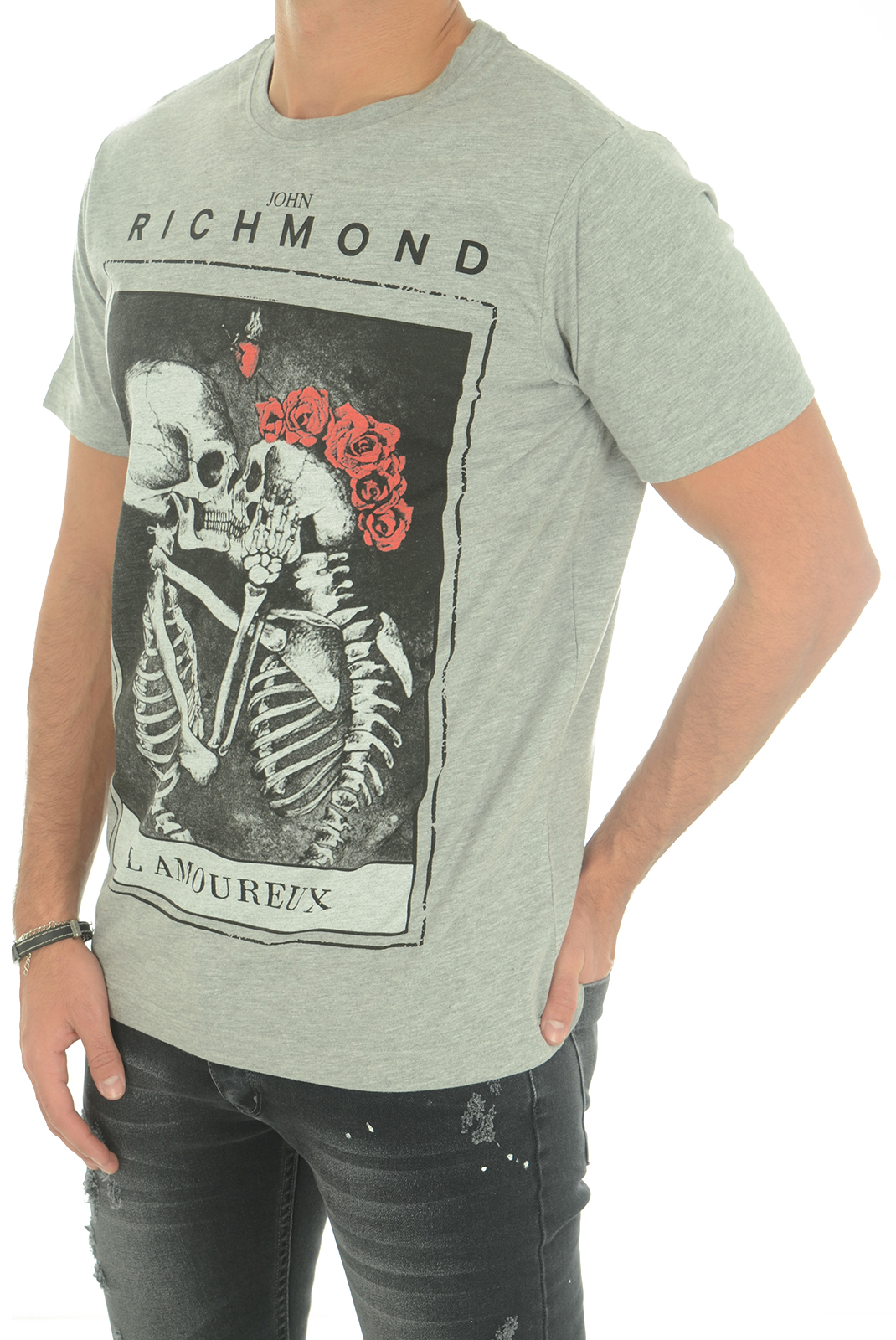 Tee-shirts  John richmond DAMOLANDIA W0066 GRIGIO MEL