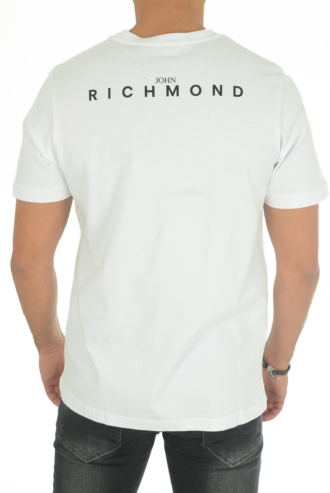 Tee-shirts  John richmond CURVELADIA W0019 BLANC