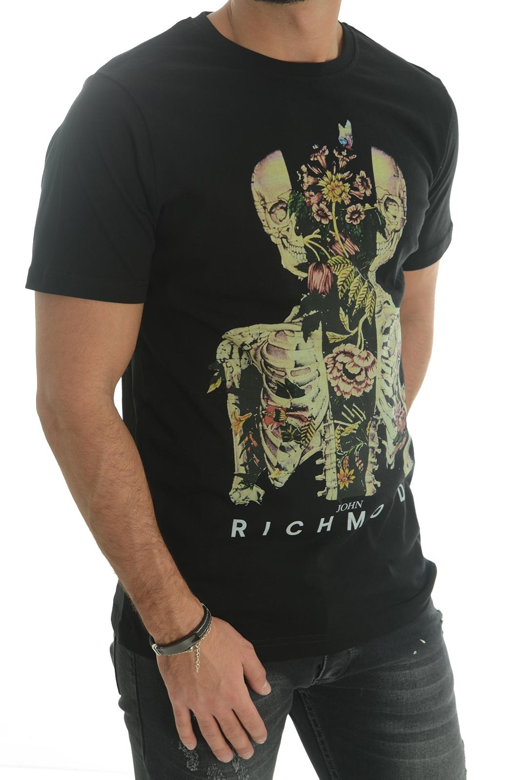 Tee-shirts  John richmond CURVELADIA W0083 NOIR