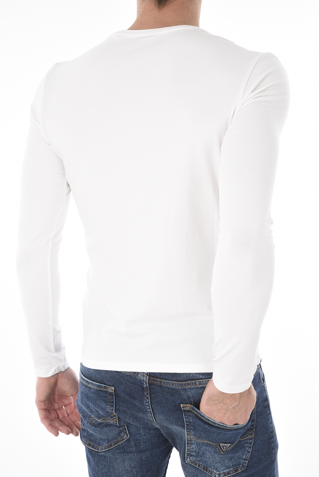 T-S manches longues  Guess jeans M73I57 J1300 A000 WHITE