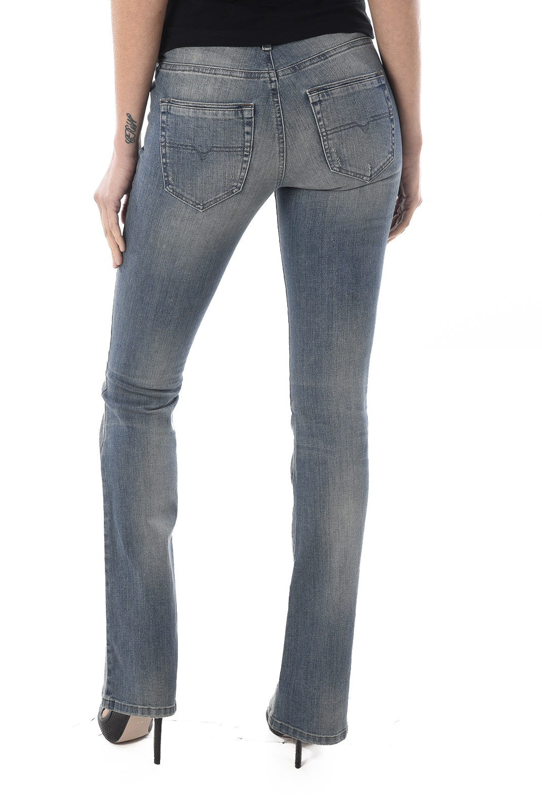 Jeans bootcut  Diesel LOWLEEK 0675D BLEU