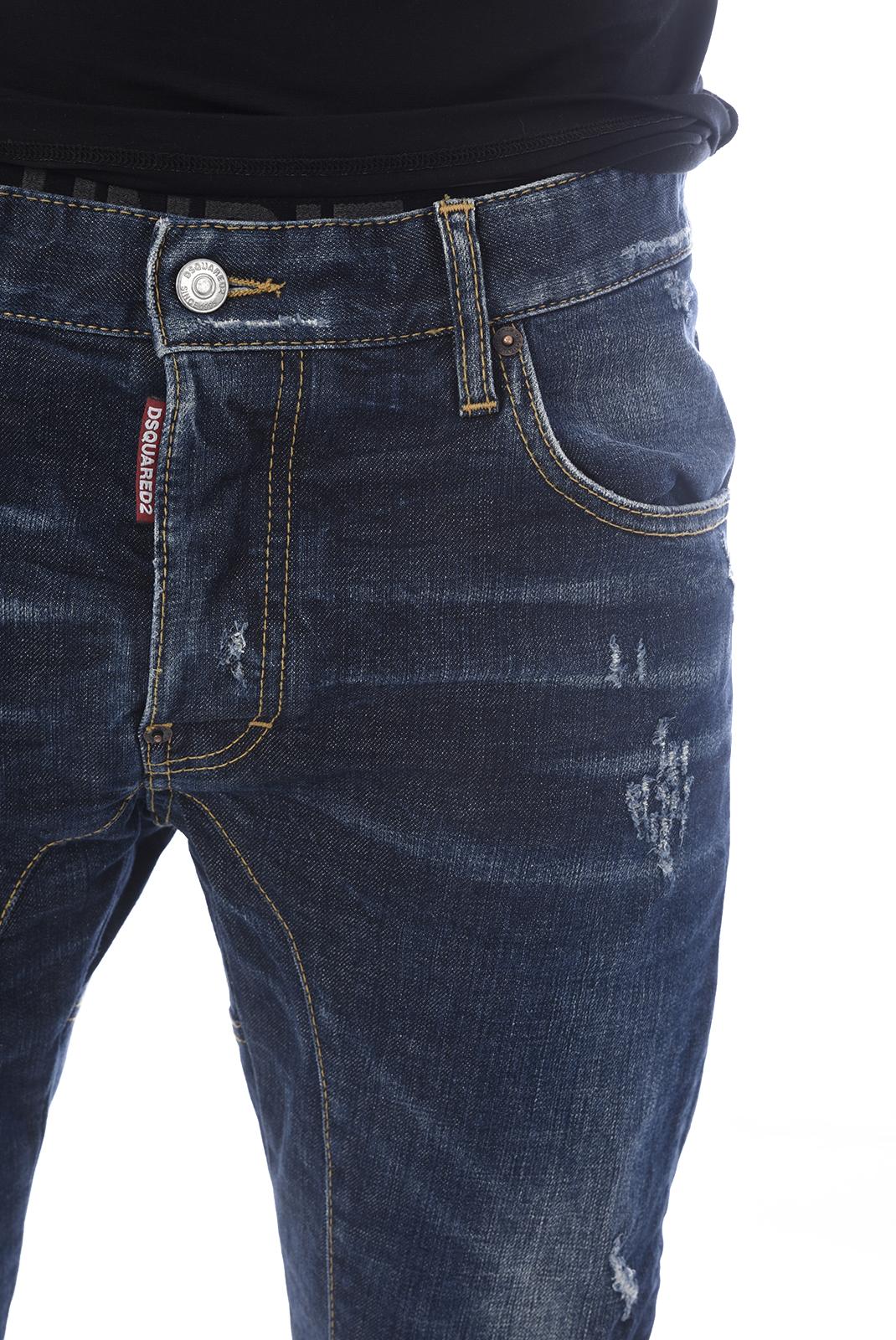 Jean slim / skinny  Dsquared2 S74LB0029 TIDY BIKER 470 INDIGO BLUE