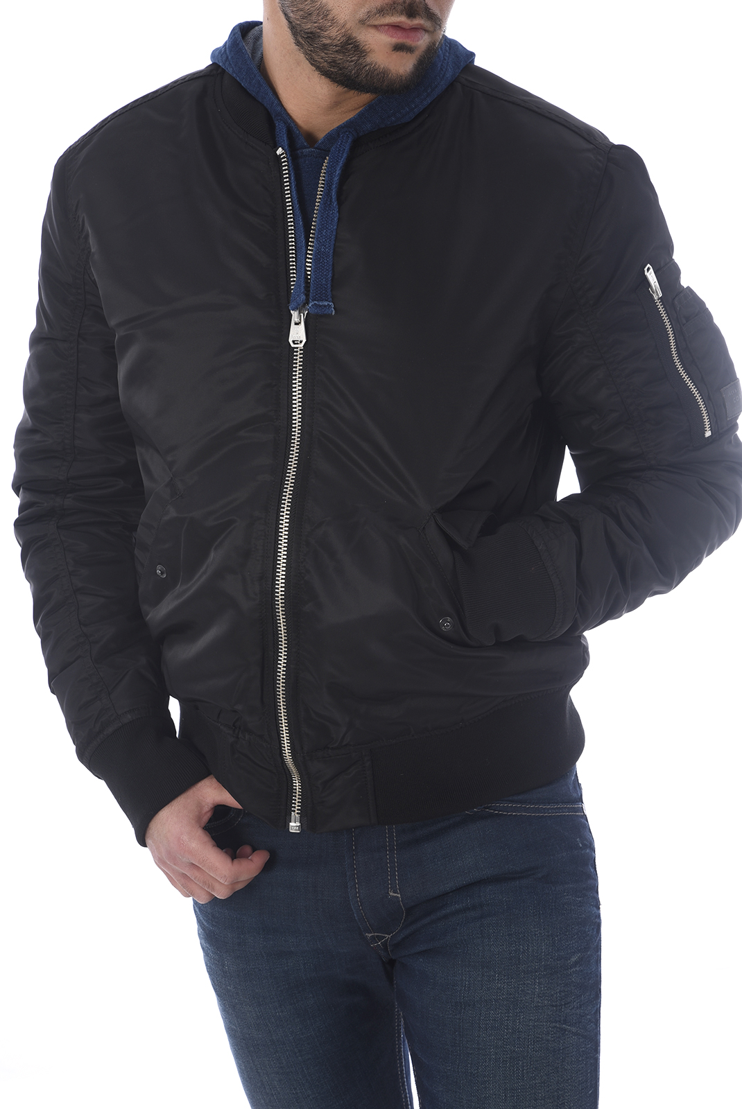 HOMME  Jack & Jones PORTEN BOMBER BLACK