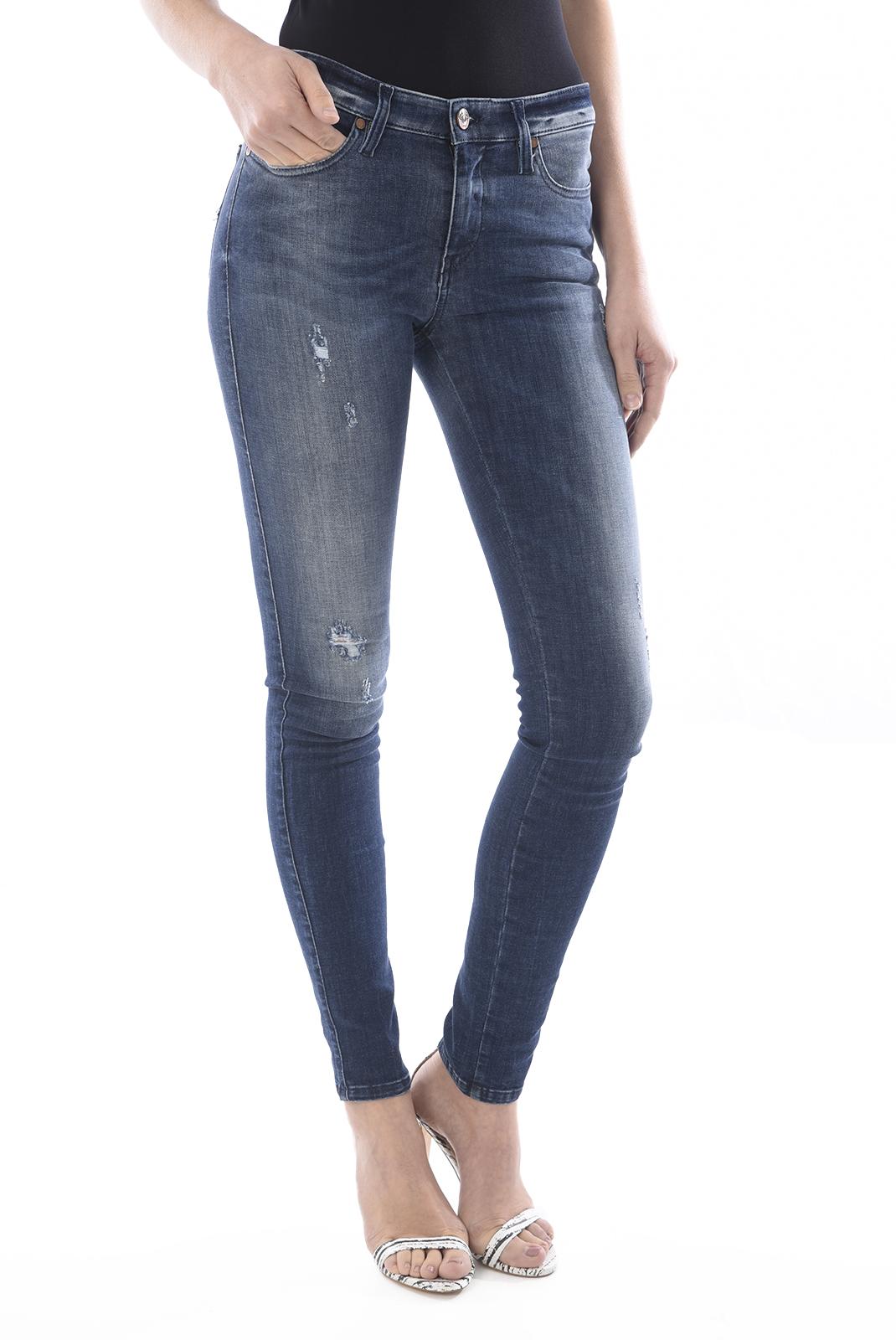 Jeans slim  Diesel SKINZEE 0677R BLEU