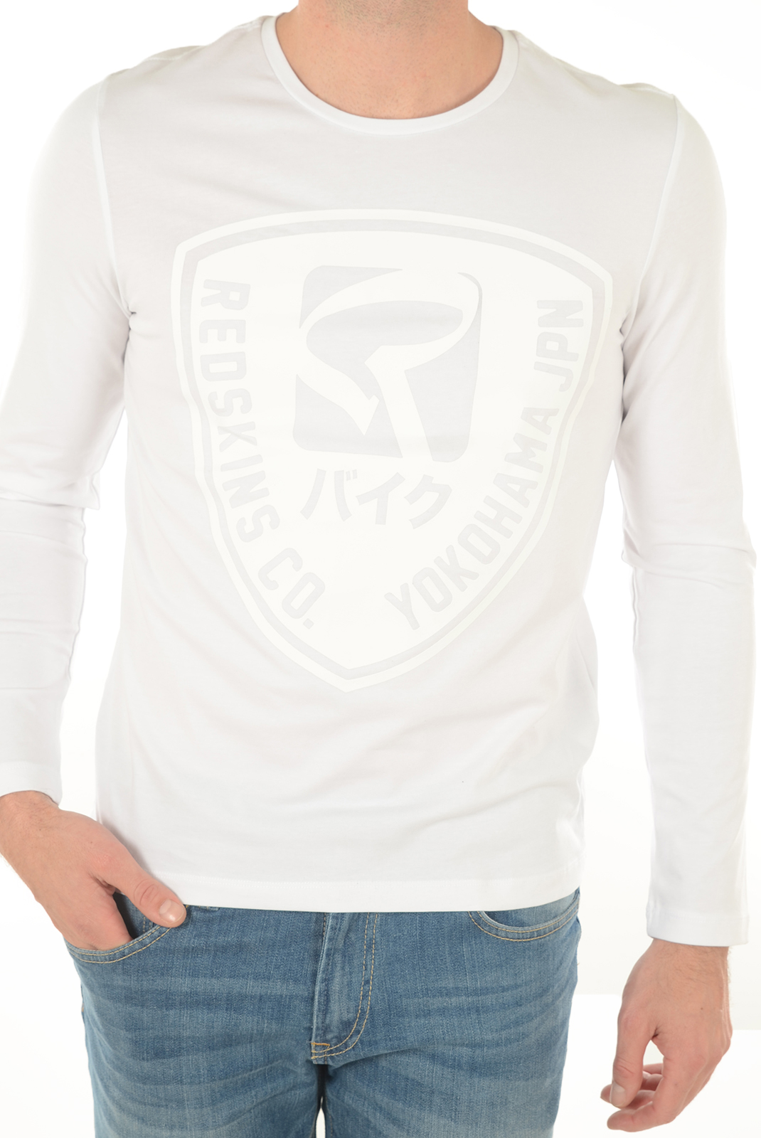 Tee-shirts manches longues  Redskins FROST CALDER WHITE
