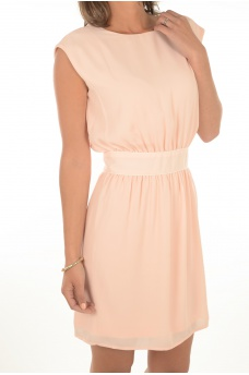 FEMME ONLY: JENNI BACK TWIST S/L DRESS