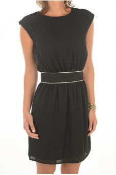 JENNI BACK TWIST S/L DRESS - FEMME ONLY