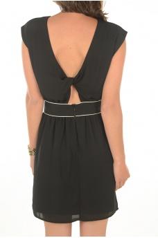 JENNI BACK TWIST S/L DRESS - MARQUES ONLY