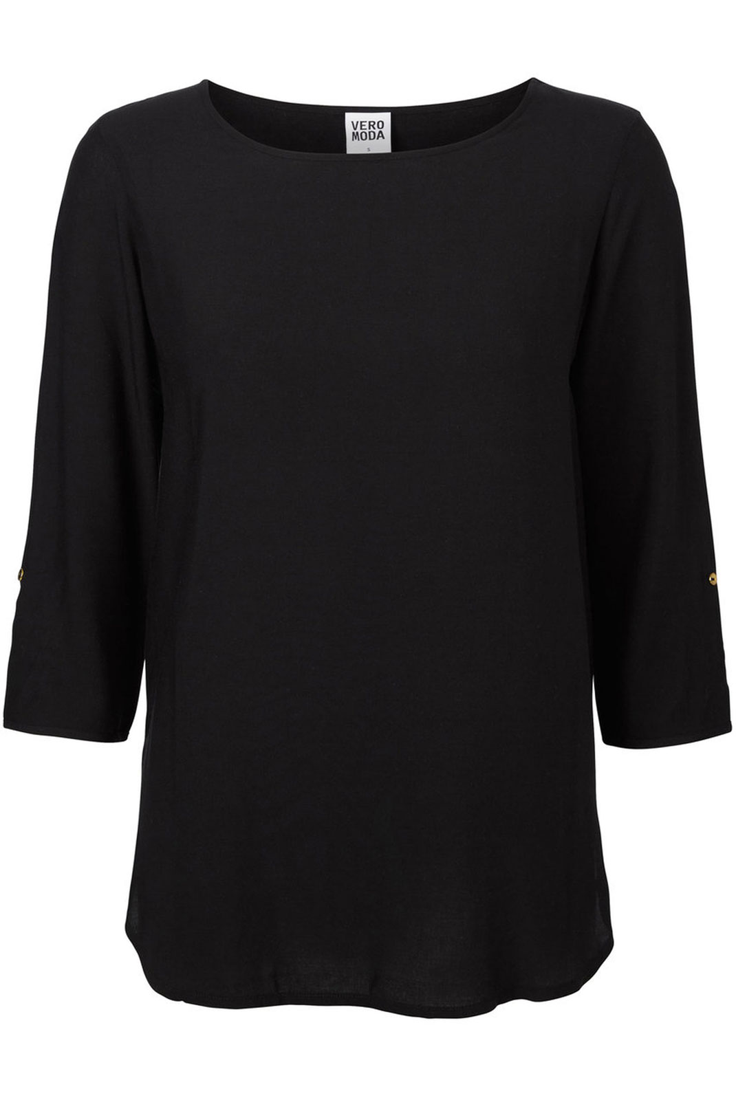 Blouses  Vero moda BOCA 3/4 FOLD UP BLOUSE NOOS BLACK
